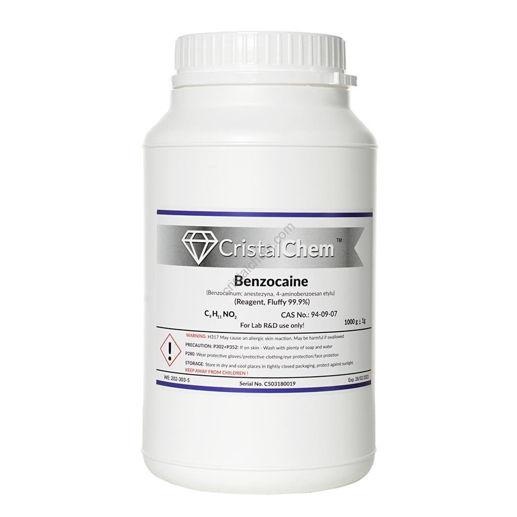 1kg Benzocaine FLUFFY - Pure 99,9% Reagent CAS No :94-09-07